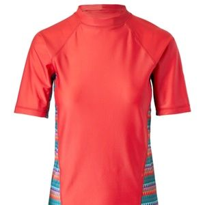UV Skinz Coral Rash Guard (NWOT)